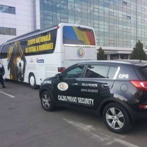 Caldo Privat Security a asigurat paza si escorta Echipei Nationale de Fotbal a Romaniei