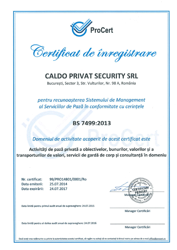 Caldo Privat Security Certificat 2