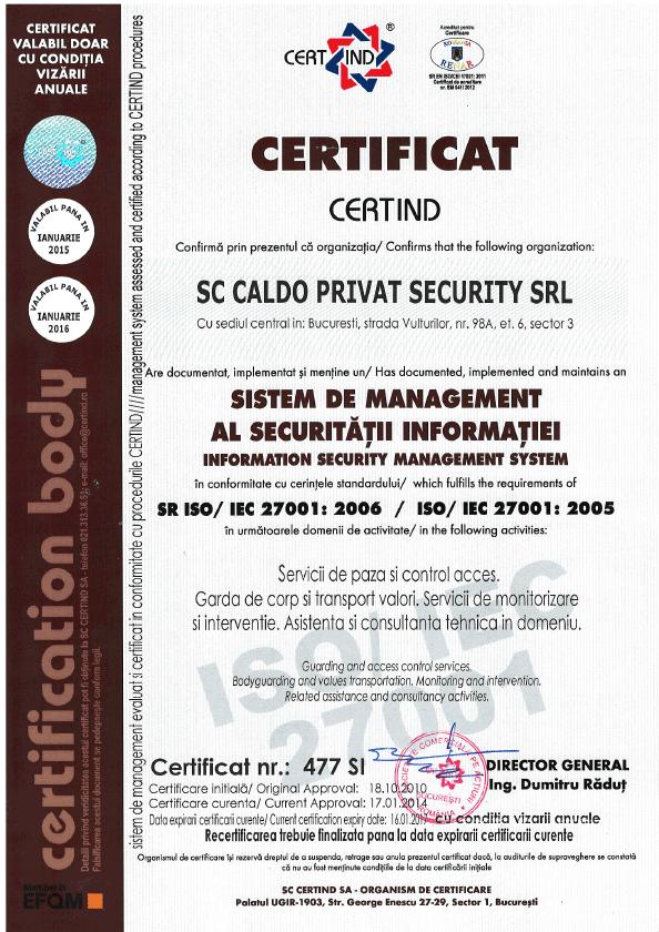 certificaricaldoprivatsecurity