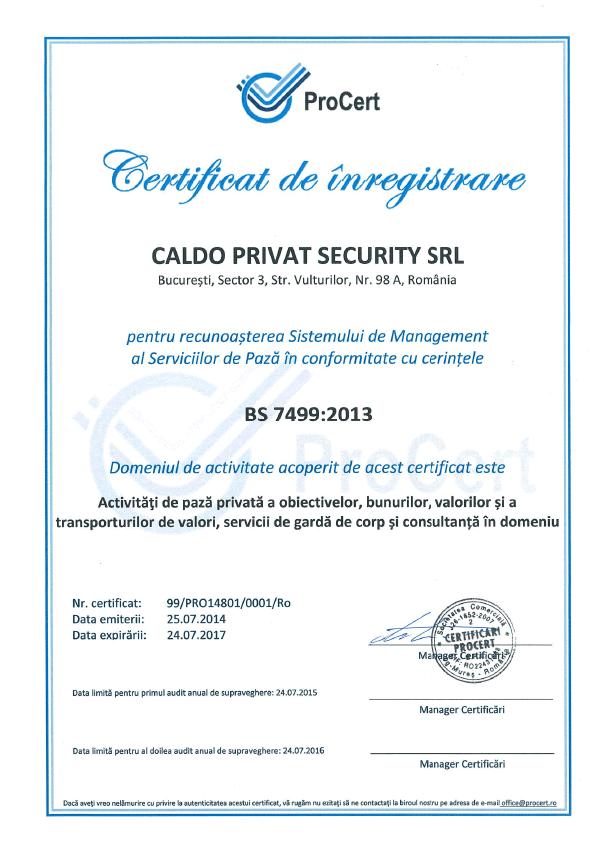 Caldo Privat Security Certificat 2