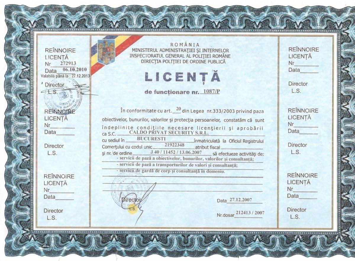 Caldo Privat Security Licenta2